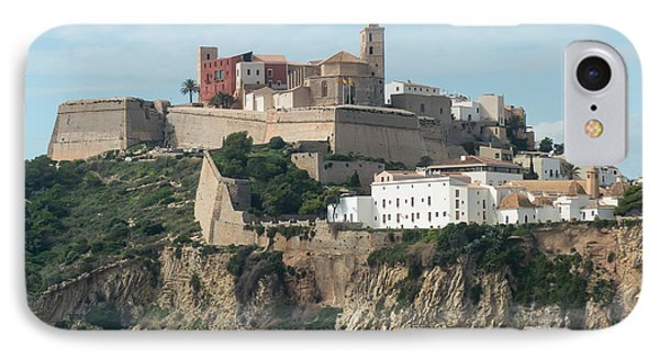 Ibiza Town And Castle IPhone Case