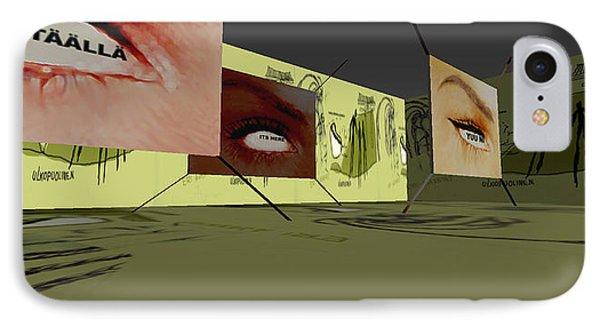 Life Labyrinth 3d Virtual Interactive Media-art 2003  IPhone Case