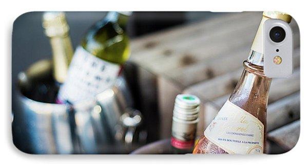 Mixed Bottles Of Gourmet Wine In Ice Chiller Bucket IPhone Case