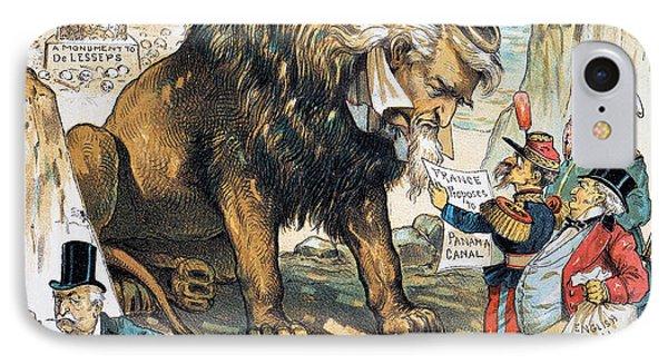 Monroe Doctrine: Cartoon IPhone Case