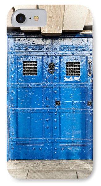 Dungeon iPhone 8 Case - Old Blue Door by Tom Gowanlock