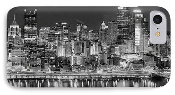 Pittsburgh Pennsylvania Skyline At Night Panorama IPhone Case