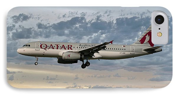 Jet iPhone 8 Case - Qatar Airways Airbus A320-232 by Smart Aviation
