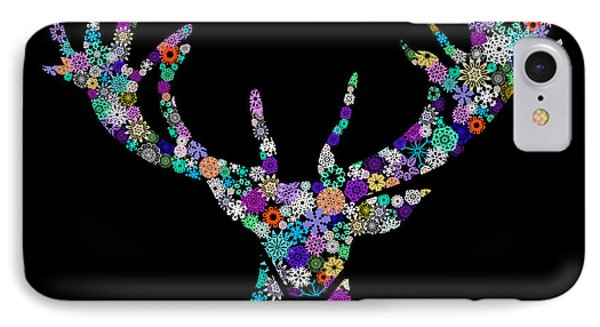 Reindeer Design By Snowflakes IPhone Case
