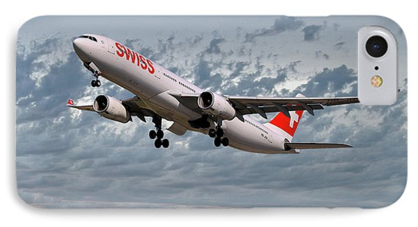 Jet iPhone 8 Case - Swiss Airbus A330-343 by Smart Aviation