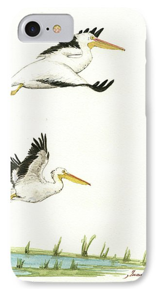The Fox And The Pelicans IPhone Case