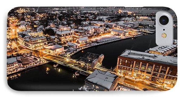 Winter Twilight In Mystic Connecticut IPhone Case