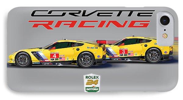2016 Daytona 24 Hour Corvette Poster IPhone Case