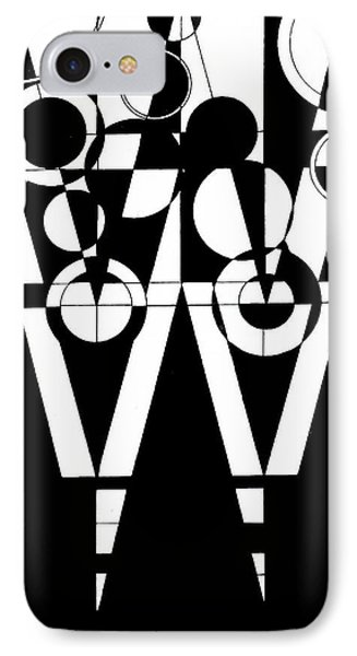 2d Black And White Abstract IPhone Case