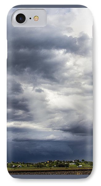 Nebraskasc iPhone 8 Case - Afternoon Nebraska Thunderstorm by NebraskaSC