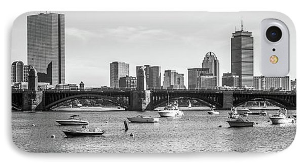 Boston Skyline Black And White Photo IPhone Case