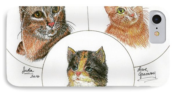 3 Cats For Juda IPhone Case