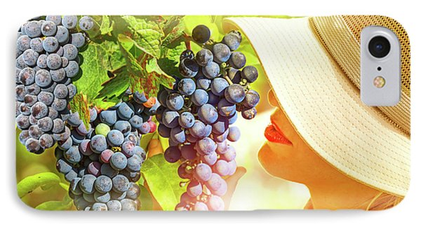 Farmer Controlling Red Grape IPhone Case