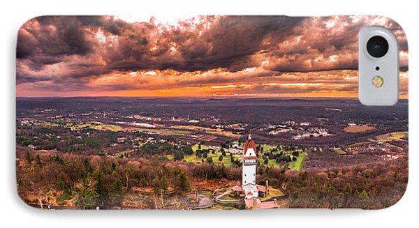 Heublein Tower, Simsbury Connecticut, Cloudy Sunset IPhone Case