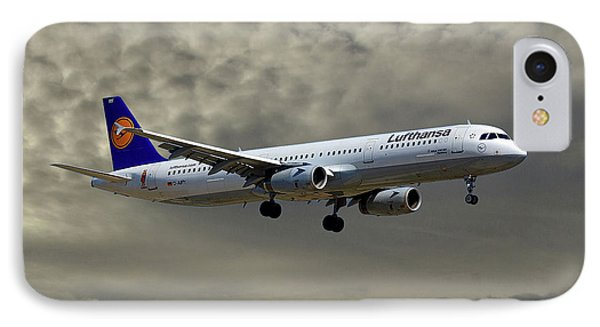 Jet iPhone 8 Case - Lufthansa Airbus A321-131 by Smart Aviation