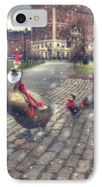 IPhone Case featuring the photograph Make Way For Ducklings - Boston Public Garden by Joann Vitali