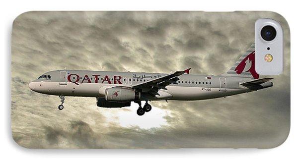 Jet iPhone 8 Case - Qatar Airways Airbus A320-232 by Smart Aviation