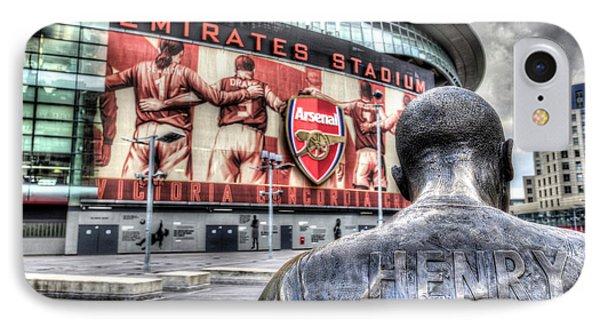 Thierry Henry Statue Emirates Stadium IPhone Case