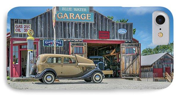 '34 Ford Sedan At Blue Water Garage IPhone Case