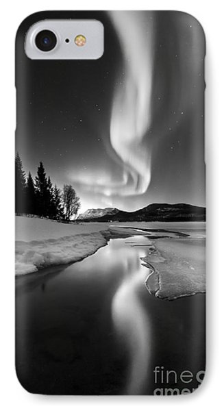 Sky iPhone 8 Case - Aurora Borealis Over Sandvannet Lake by Arild Heitmann