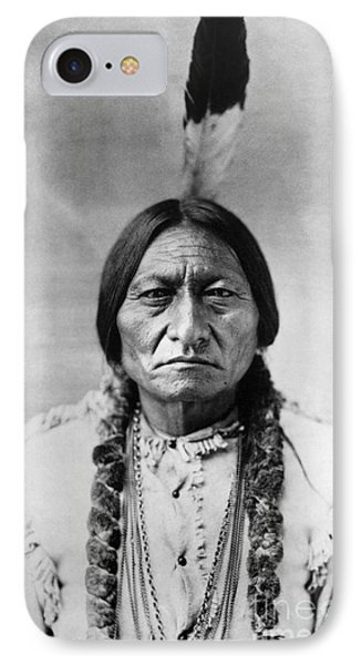 American iPhone 8 Case - Sitting Bull 1834-1890. To License For Professional Use Visit Granger.com by Granger