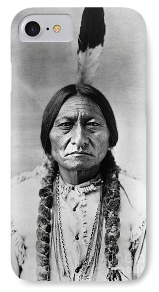 Portraits iPhone 8 Case - Sitting Bull 1834-1890. To License For Professional Use Visit Granger.com by Granger
