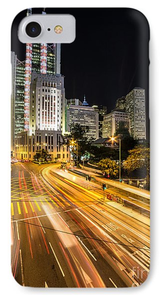 Hong Kong Night Rush IPhone Case