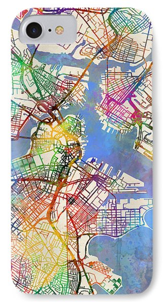 Boston Massachusetts Street Map IPhone Case