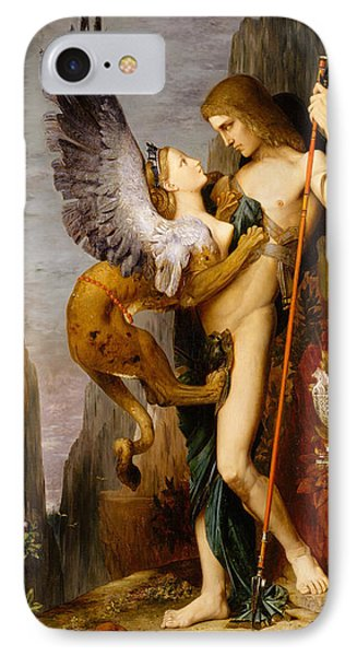 Oedipus And The Sphinx IPhone Case