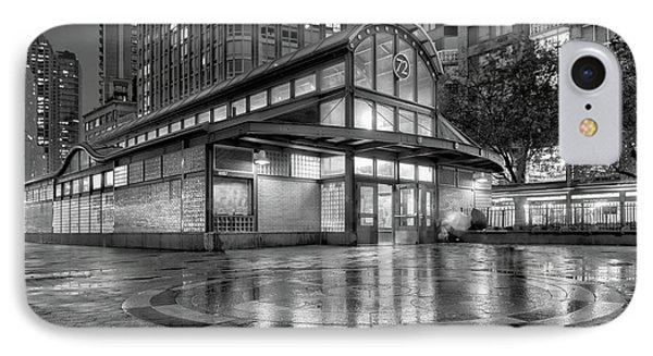 72nd Street Subway Station Bw IPhone Case