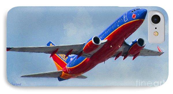 737 In Flight.  IPhone Case