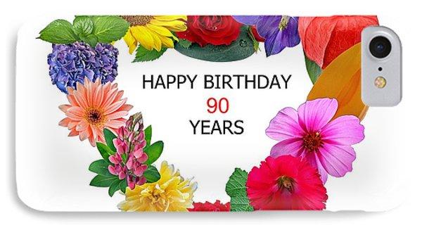 90th Birthday IPhone Case