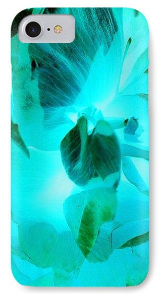 iPhone 8 Case - A Bloom In Turquoise by Orphelia Aristal