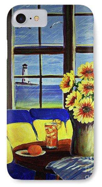 A Coastal Window Lighthouse View IPhone Case