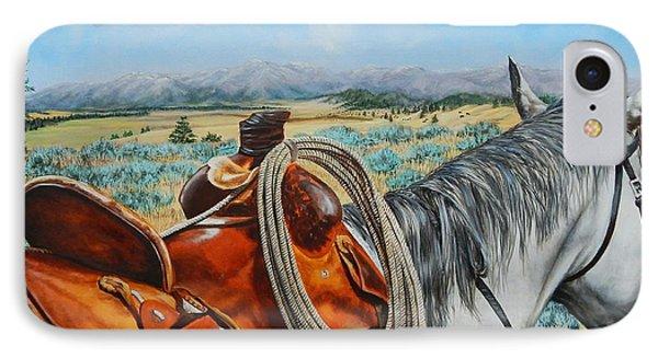 A Cowboy's View IPhone Case