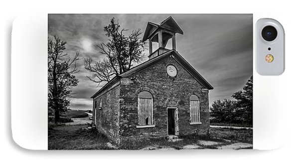 A Crumbling One Room School House Amongst The Cornfields IPhone Case