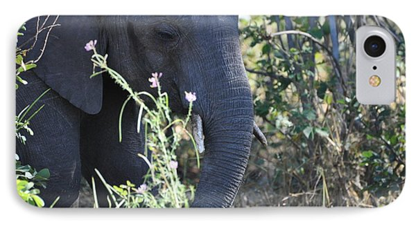 A Flower  A Elephant IPhone Case