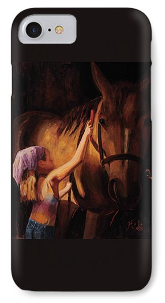 Horse iPhone 8 Case - A Girls First Love by Billie Colson