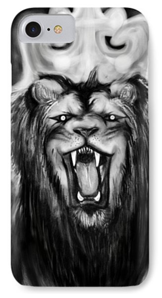 A Lion's Royalty B/w IPhone Case