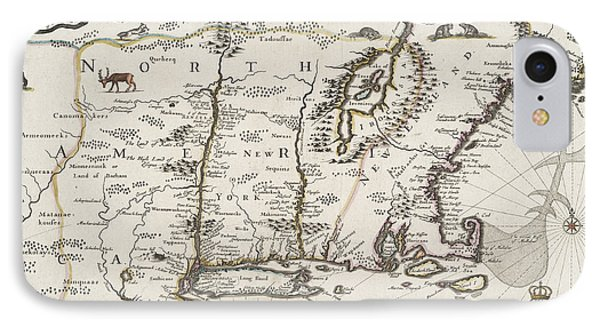 A Map Of New England And New York IPhone Case
