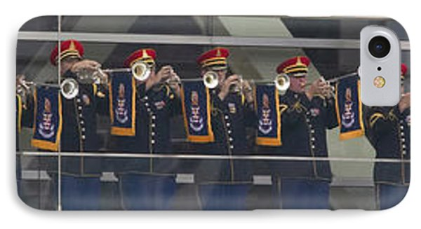 A Military Band Of Trumpeters Performs IPhone Case