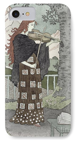 Violin iPhone 8 Case - A Musician by Eugene Grasset