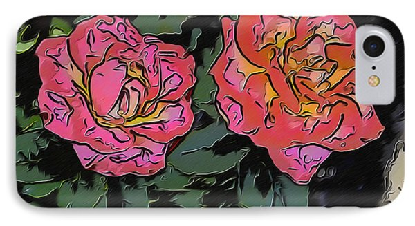 A Parrot And A Tiger Or Two Roses IPhone Case