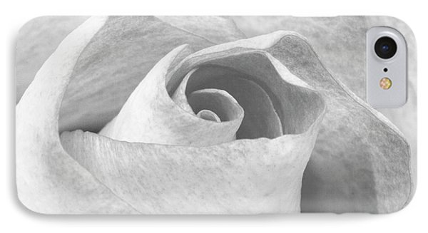 A Rose Is A Rose Black And White Floral Photo 753  IPhone Case