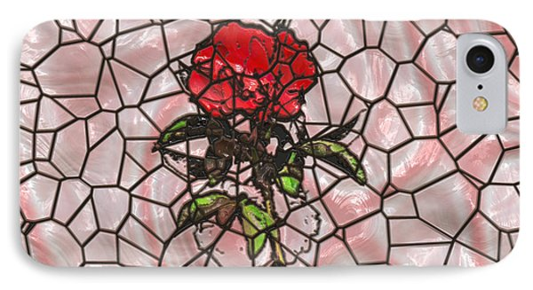 A Rose On Stained Glass IPhone Case