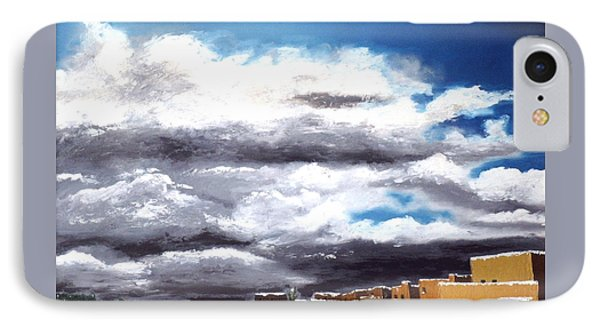 A Santa Fe Winter Afternoon IPhone Case