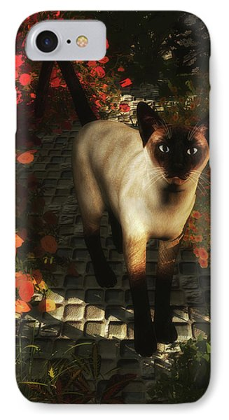 A Siamese Cat Is Looking  IPhone Case