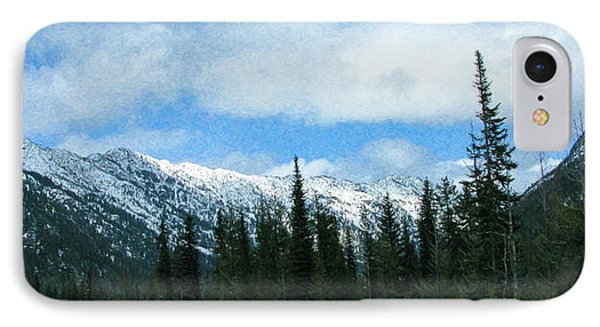 A Slice Of Heaven North Cascades Motivational Artwork By Omashte IPhone Case