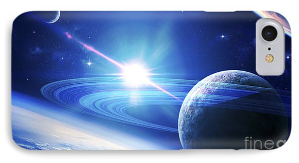 A View Of A Planet As It Looms In Close IPhone Case