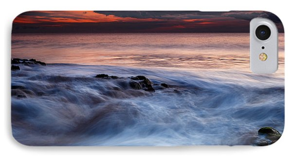 A Wave At Sunset IPhone Case